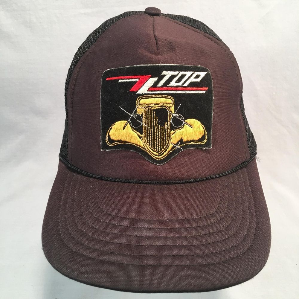 ZZ Top Eliminator Embroidered Iron On Black Mesh Snapback Hat Cap  NotNoted   TruckerHat 595d87110718