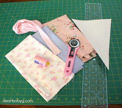 How to make fabric bunting - tutorial Move Fuel Love Business