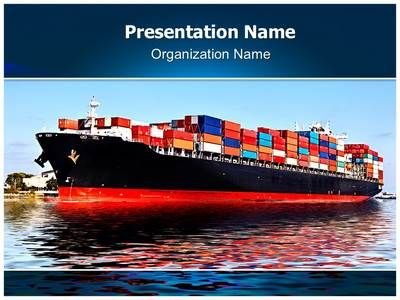 Cargo Ship Powerpoint Template is one of the best PowerPoint