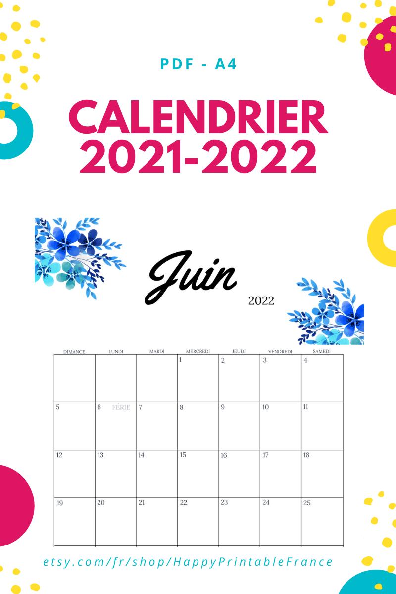Calendrier Mensuel 2019 Et 2022 à Imprimer Calendrier 2021 PDF   A imprimer in 2021 | Print monthly calendar