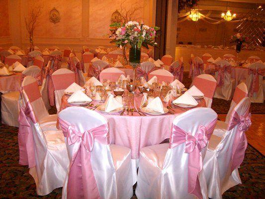 fuchsia chair sash white chair covers with powder pink sashes