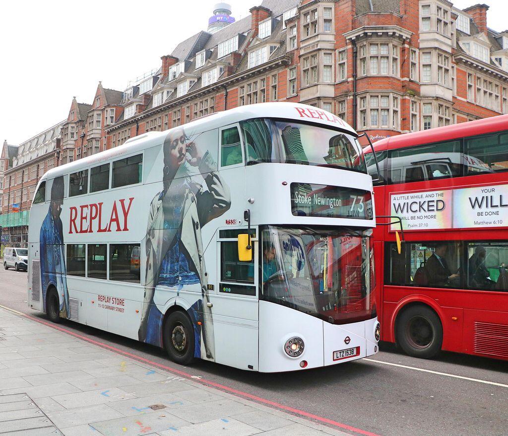 Arriva London Lt538 Ltz1538 Replay Jeans London Transport New Routemaster London