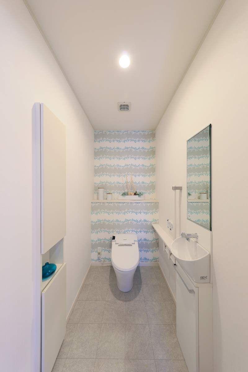幅1200 埋込収納 タンクレストイレ 車いすも入りやすい 手洗い器 タンクレストイレ 手洗い器 トイレ