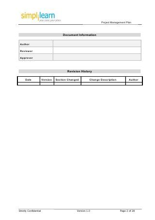 Project Management Plan Template Self improvement Pinterest - management plan template