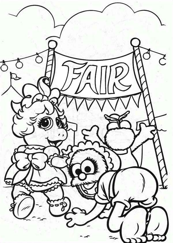 Muppet Babies Is Going To Annual Baby Fair Coloring Pages Bulk Color Coloring Pages Baby Coloring Pages Free Coloring Pages
