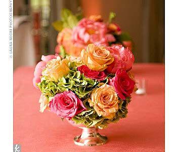 Miss Scarlett's - Hydrangea and Rose centerpiece