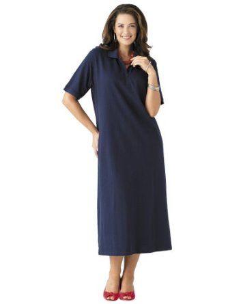 Ulla Popken Plus Size Pique Knit Polo Dress Style Pinterest