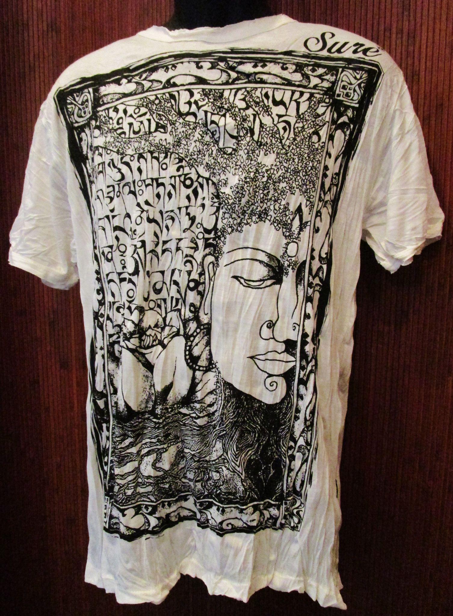 Sure design t shirts and clothing - Sure Design Sanskrit Buddha T Shirt