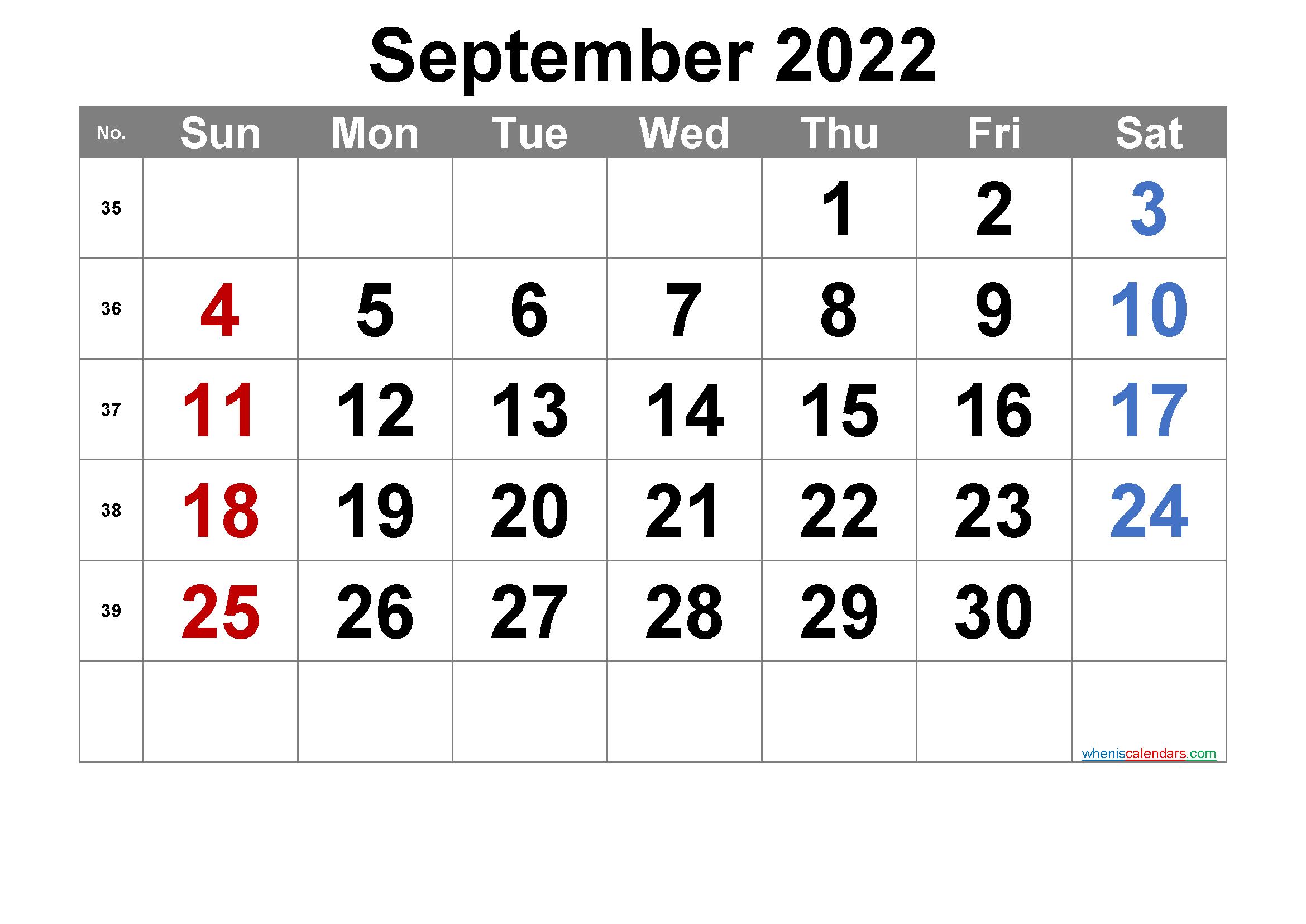 September 2022 Calendar Wallpaper.Printable September 2022 Calendar Free Premium Monthly Calendar Printable Printable Calendar Template Monthly Calendar