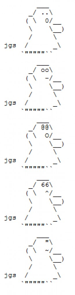 Art ascii symbol Anime or