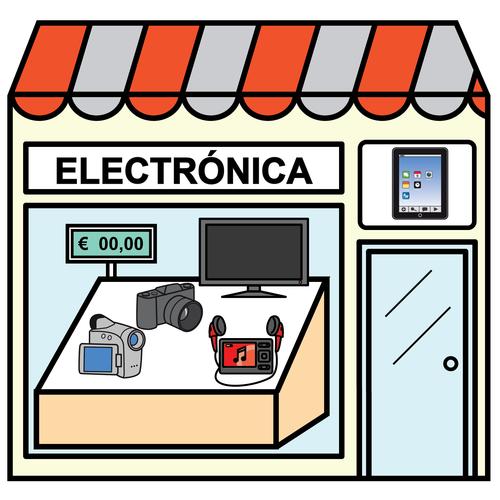 Pictogramas arasaac tienda de electr nica tiendas for Tiendas de muebles para restaurantes