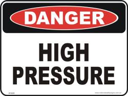 High Pressure Danger Sign High Voltage Dangerous Signs