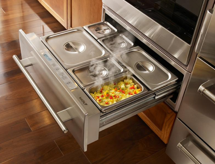 Warming drawer pans | Kitchen design, Home kitchens, Kitchen ...