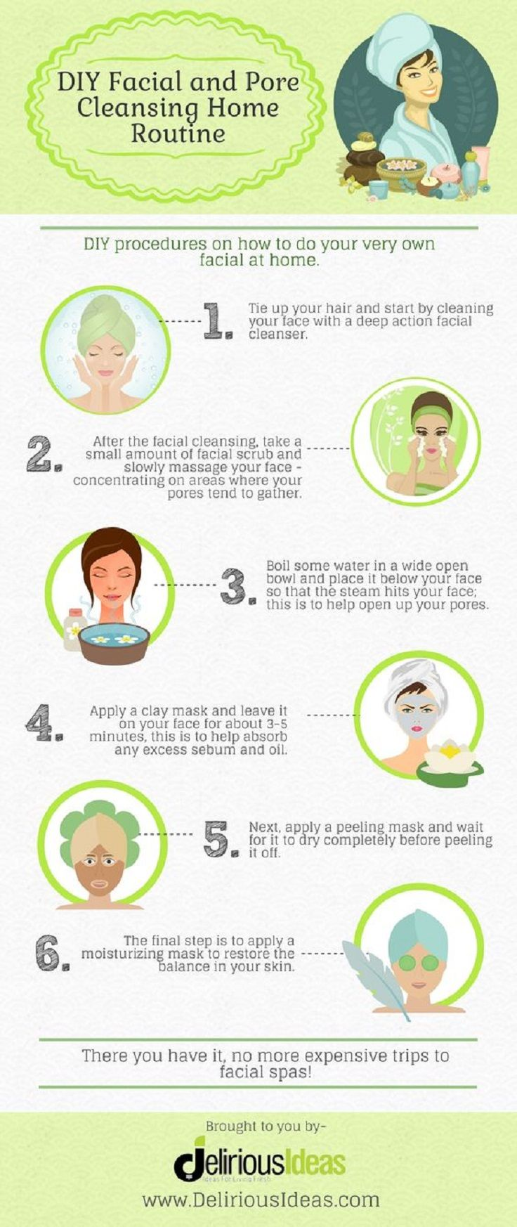 Home facial routine