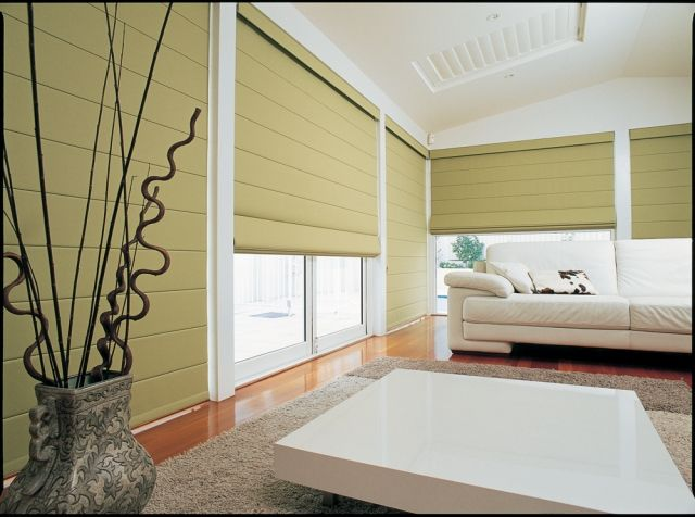 Roman Shades To Cover Entire Floor Ceiling Windows What A Nice Design Give The Earance Of Full Wall