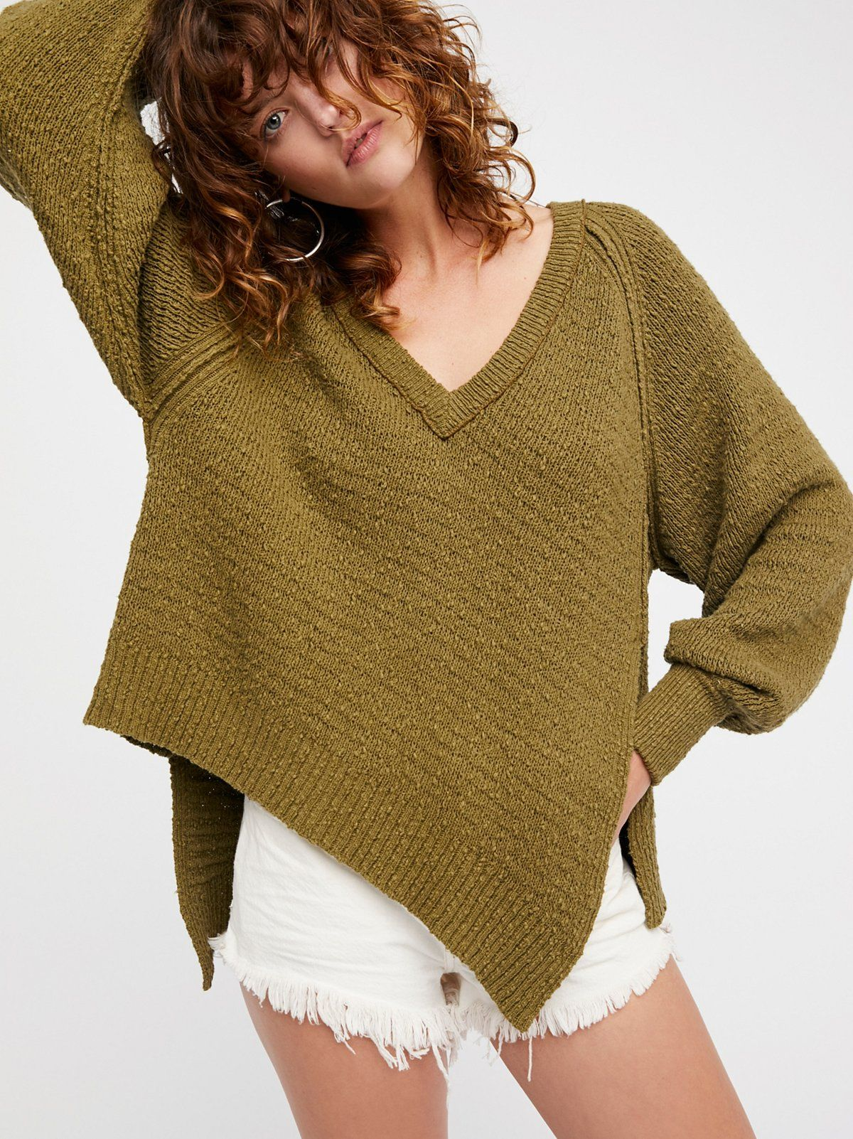 West Coast Pullover | Chunky knit cotton sweater featuring an ...