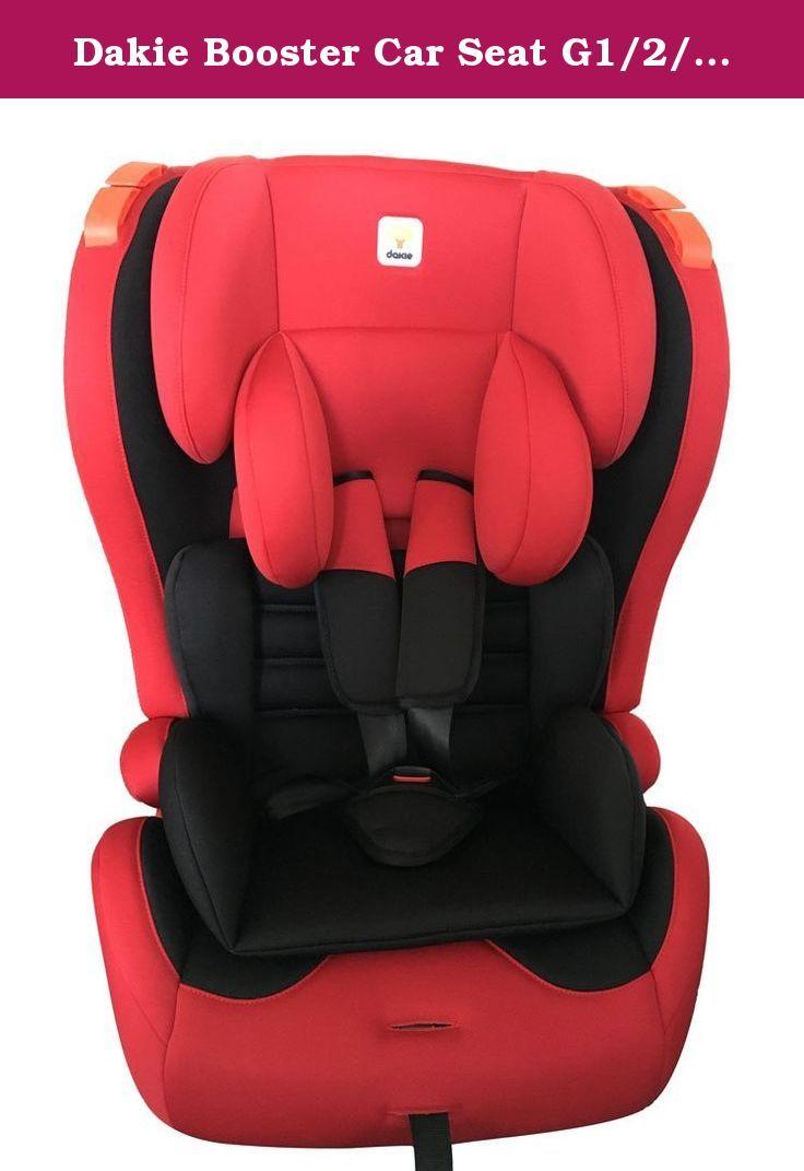 Dakie Booster Car Seat G1 2 3 With Isofix Red Black Dakie G1 2