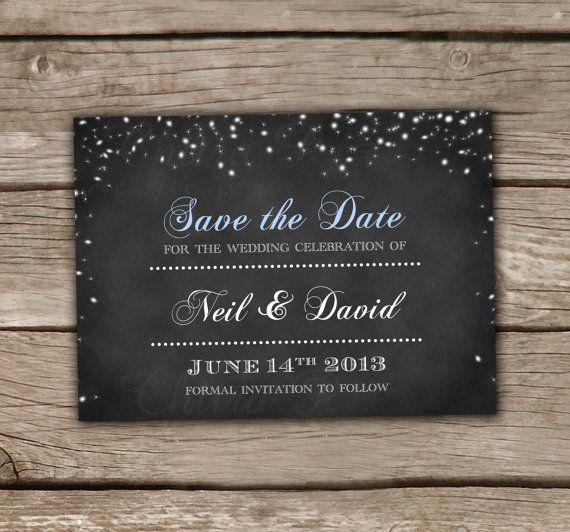 Starry Night Save the Date Template - Printed or Printable - save the date template