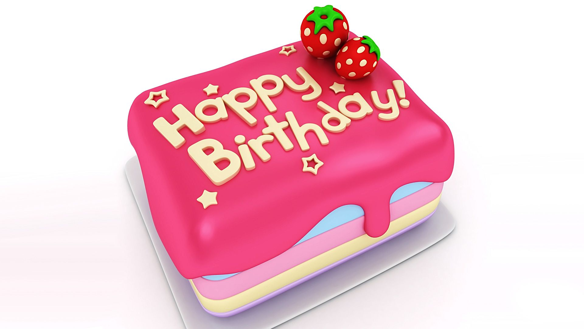 Happy Birthday Cake Hd Wallpaper Image Happy Birthday Wishes Quote