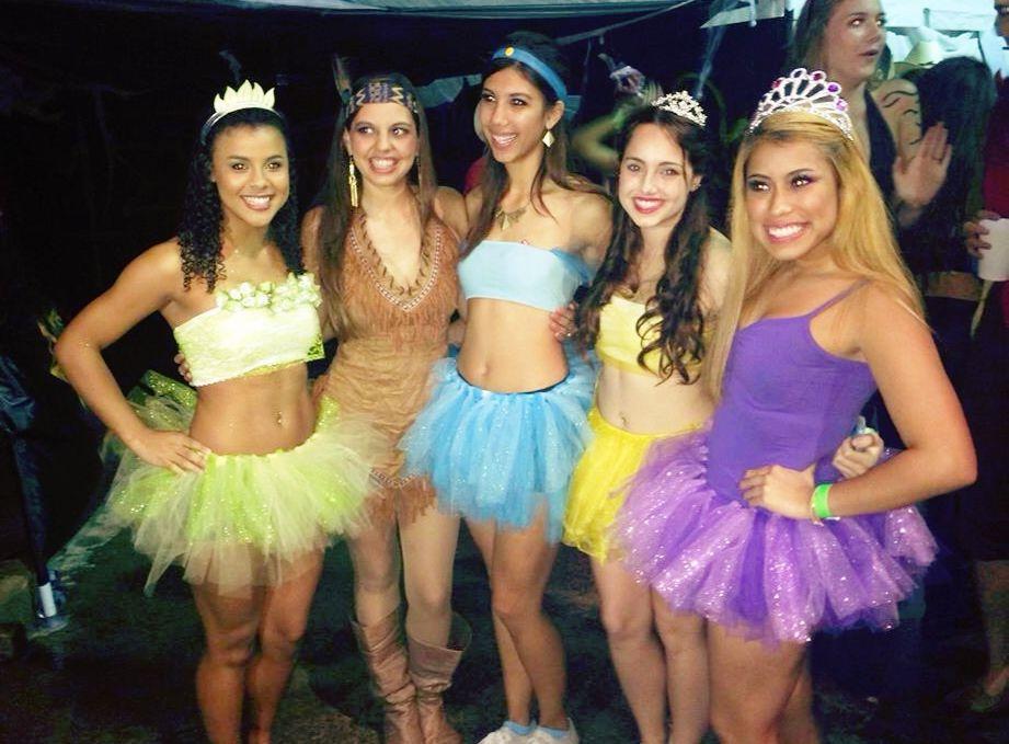 Disney Princess Halloween Costumes Dyi Homemade College -3112