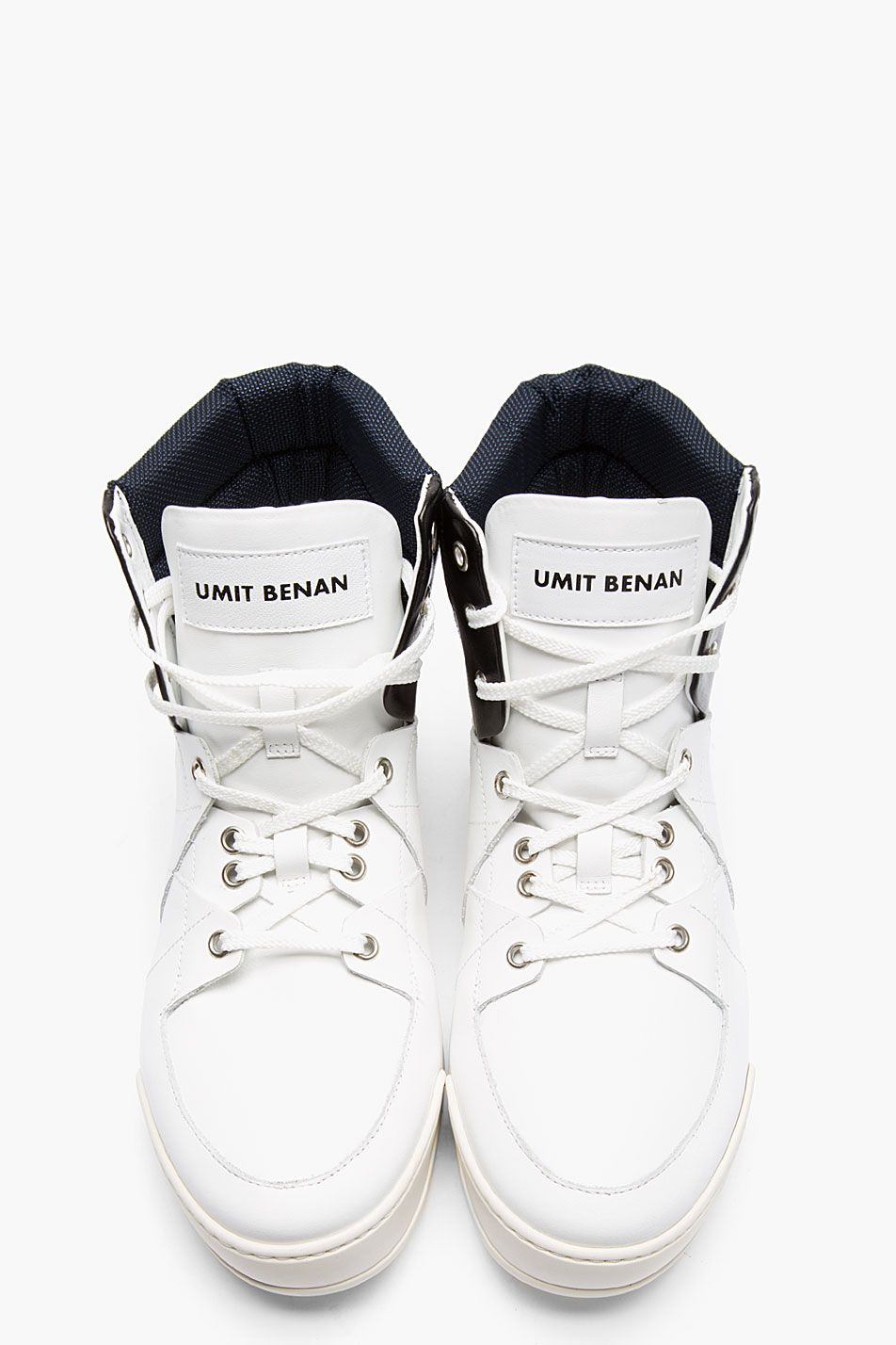 SneakersMy Benan Umit High Sneaker White Leather Tricolor Top 0nkXOPw8