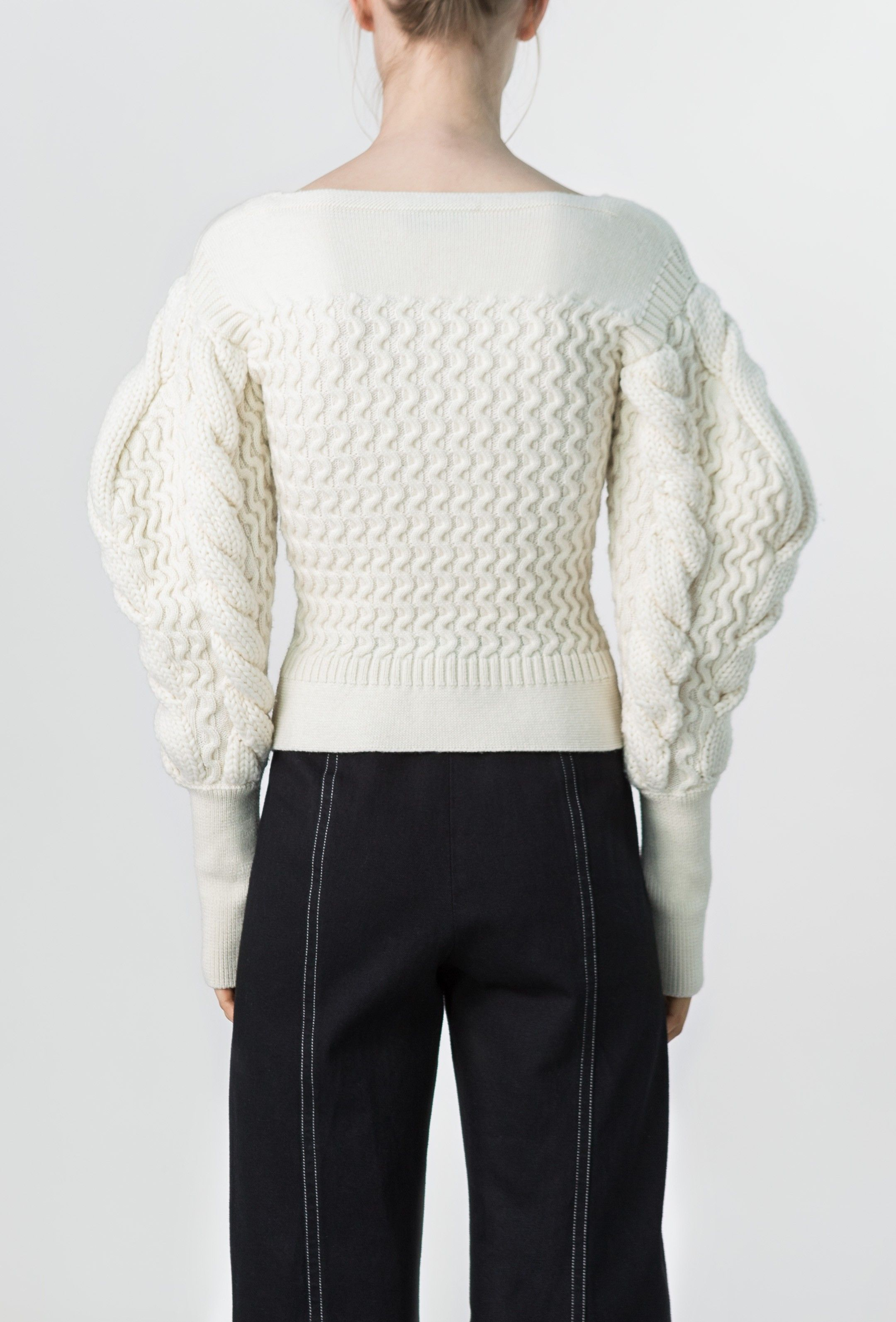 large sleeve cable knit sweater - Lemaire online shop | 패션 ...