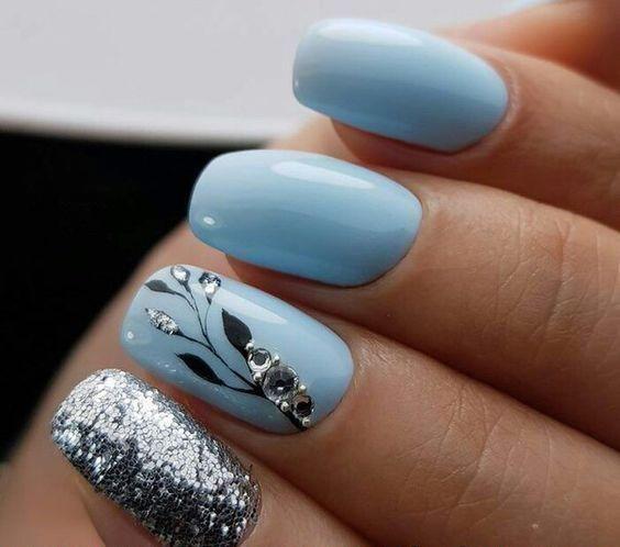20 Cool Tropical Leaves Nails Designs Tropical Leaves Nails Design De Unhas Geometriya Dizajn N Short Coffin Nails Designs Latest Nail Trends Tropical Nails
