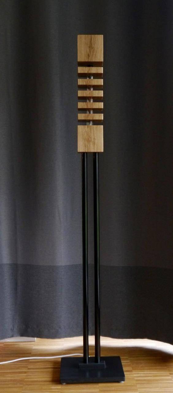 Moderne Massivholz Stehlampe - Design No1-F-LS150 mit ...