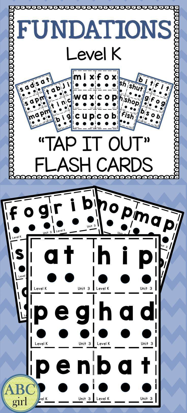 worksheet Wilson Reading Worksheets kindergarten fundations level k tap it out flash cards wilson readingearly