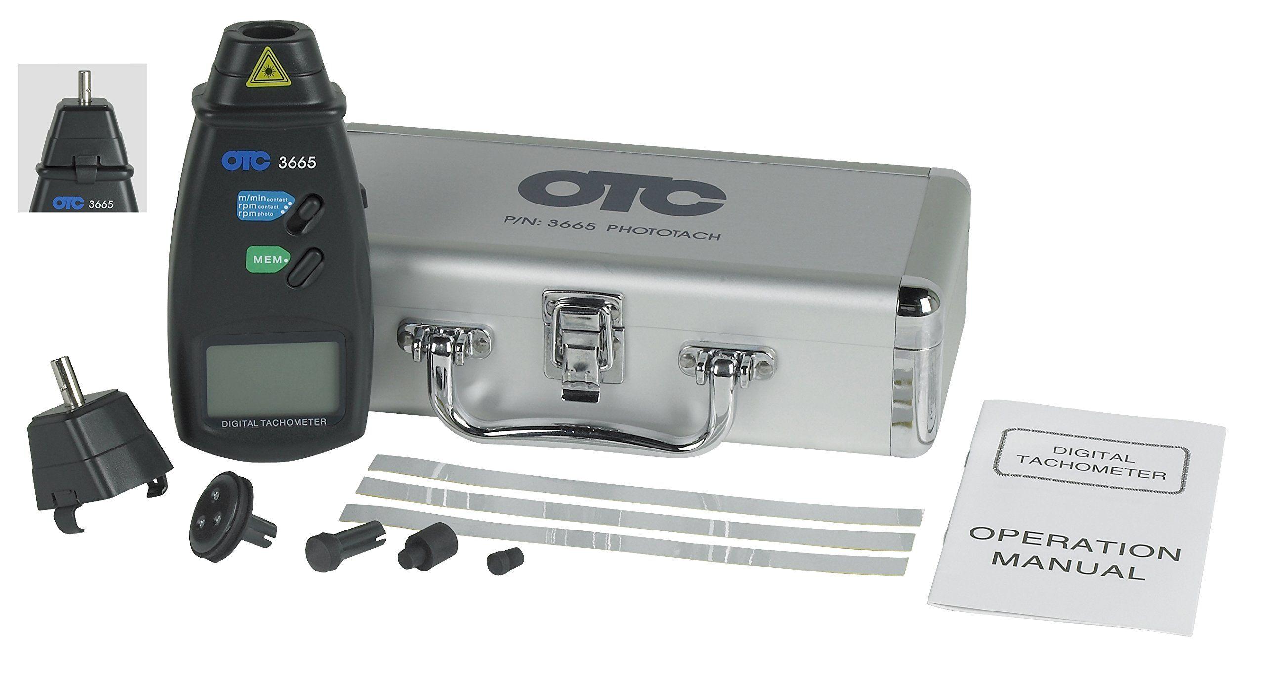 OTC 3665 Phototach Contact/NonContact Tachometer *** Be