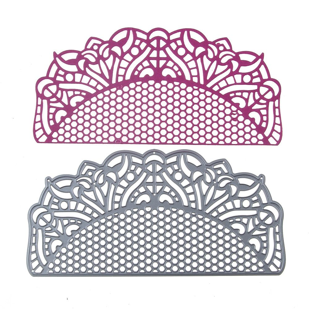 Lace Frame Metal Cutting Dies Stencils DIY Scrapbooking Crafts Embossing Mold