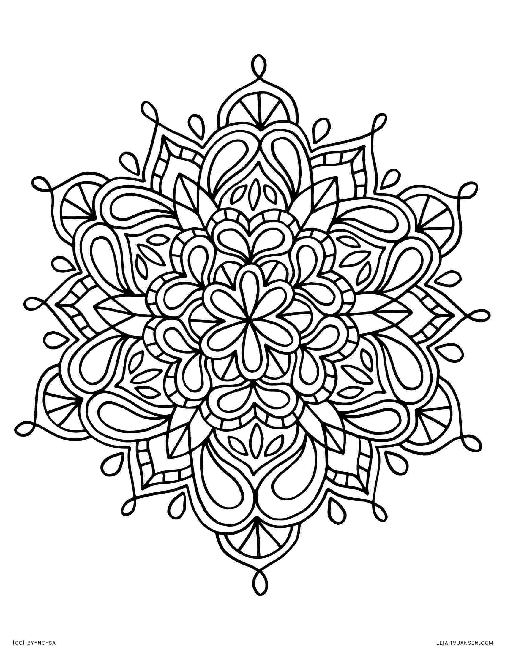 Easy Flower Mandala Coloring Pages Coloring Page Flower Mandala Printable Coloring Page B Mandala Coloring Pages Abstract Coloring Pages Mandala Coloring Books