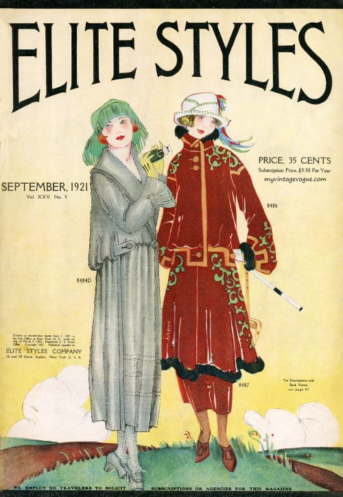 Elite Styles magazine, September 1921