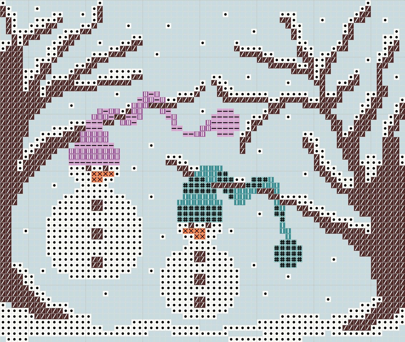 Stickeules Freebies: Winter - very interesting patterns here!