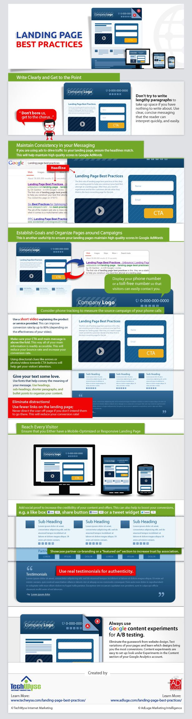 Landing Page Best Practices: How to Design the Perfect Landing Page #infographic