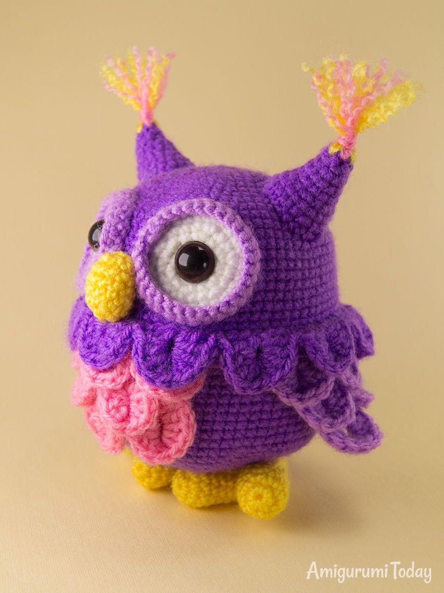 Crochet owl amigurumi pattern | Handarbeiten