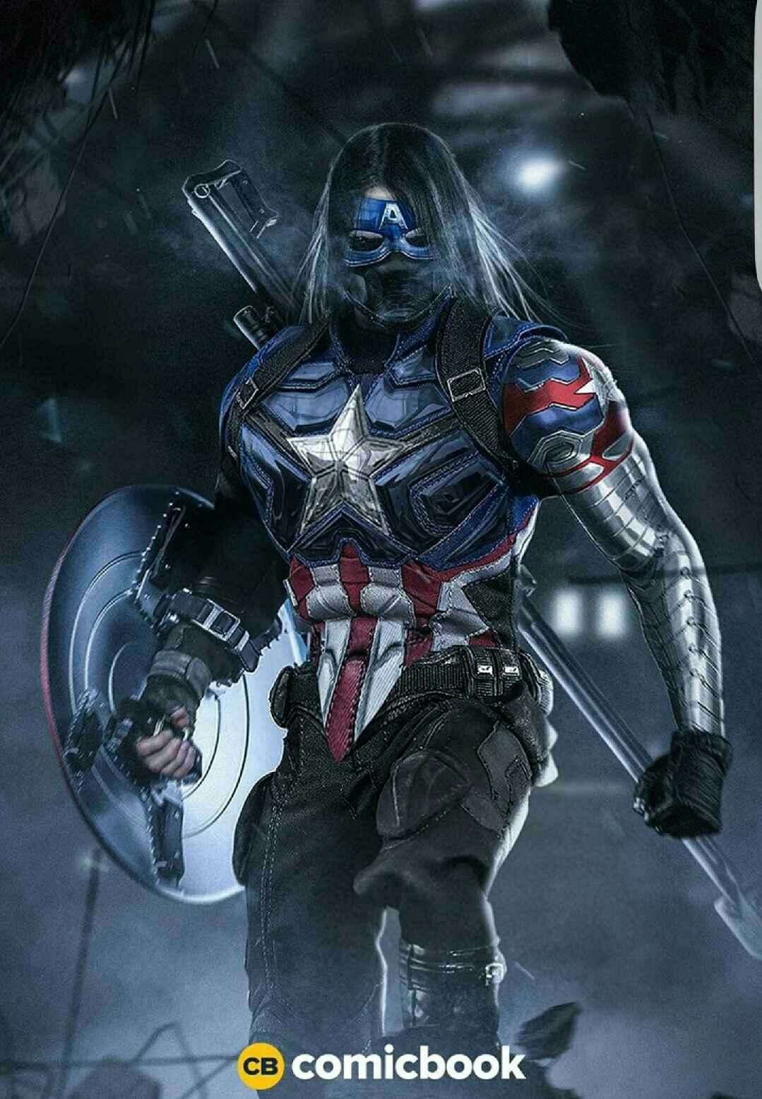Bucky Captain America Concept Art 3 3 Wepons Marvel