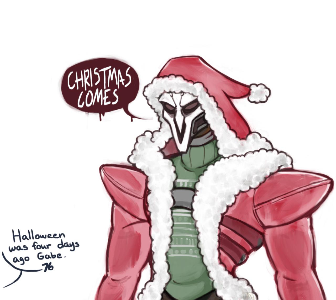 Overwatch fan art - The Reaper of Christmas   .OVERWATCH ...