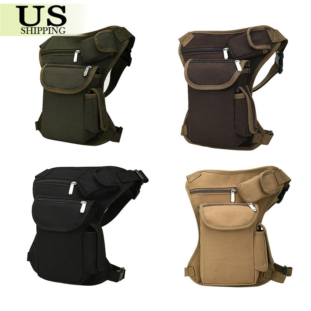 Tactical Outdoor Military Drop Leg Bag Thigh Panel Utility Waist Belt Pouch Bag  #Unbranded #FannyWaistPack
