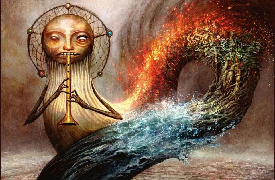 The Prismatic Piper By Seb Mckinnon 1300 X 850 Mtgporn Mtg Art The Gathering Fantasy Illustration