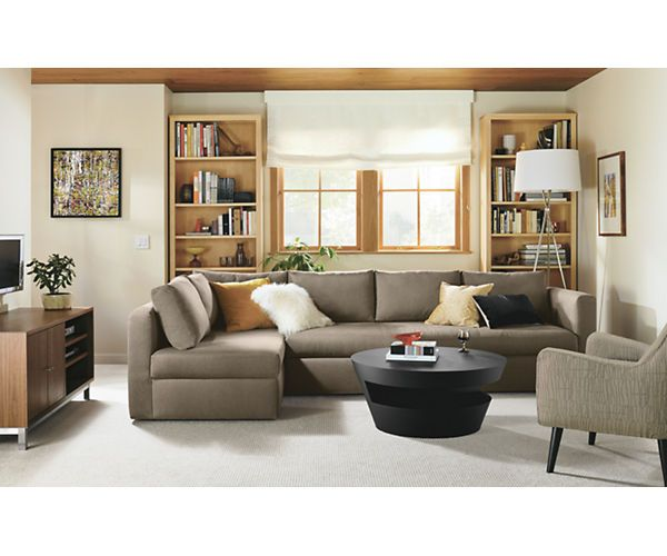 Best Oxford Pop Up Platform Sleeper Sofa With Chaise Modern 400 x 300