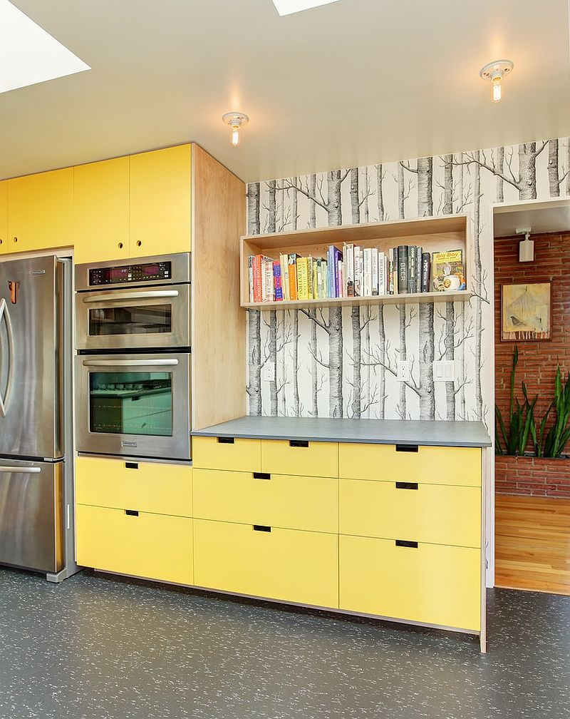 Kitchen Wallpaper Ideas - Wall Decor That Sticks | Wood wallpaper ...