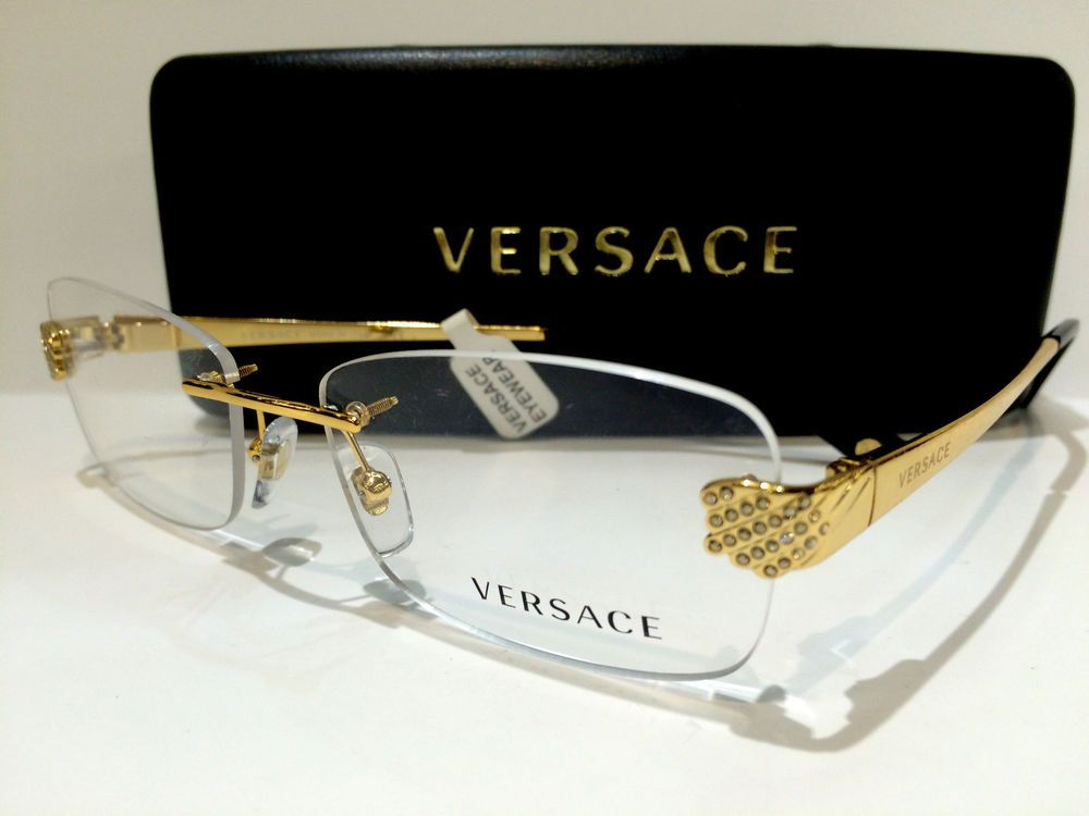 a8c598ac2 New Authentic Versace Mod 1203B 1002 Gold/Havana 51mm Frames Eyeglasses RX  Italy…
