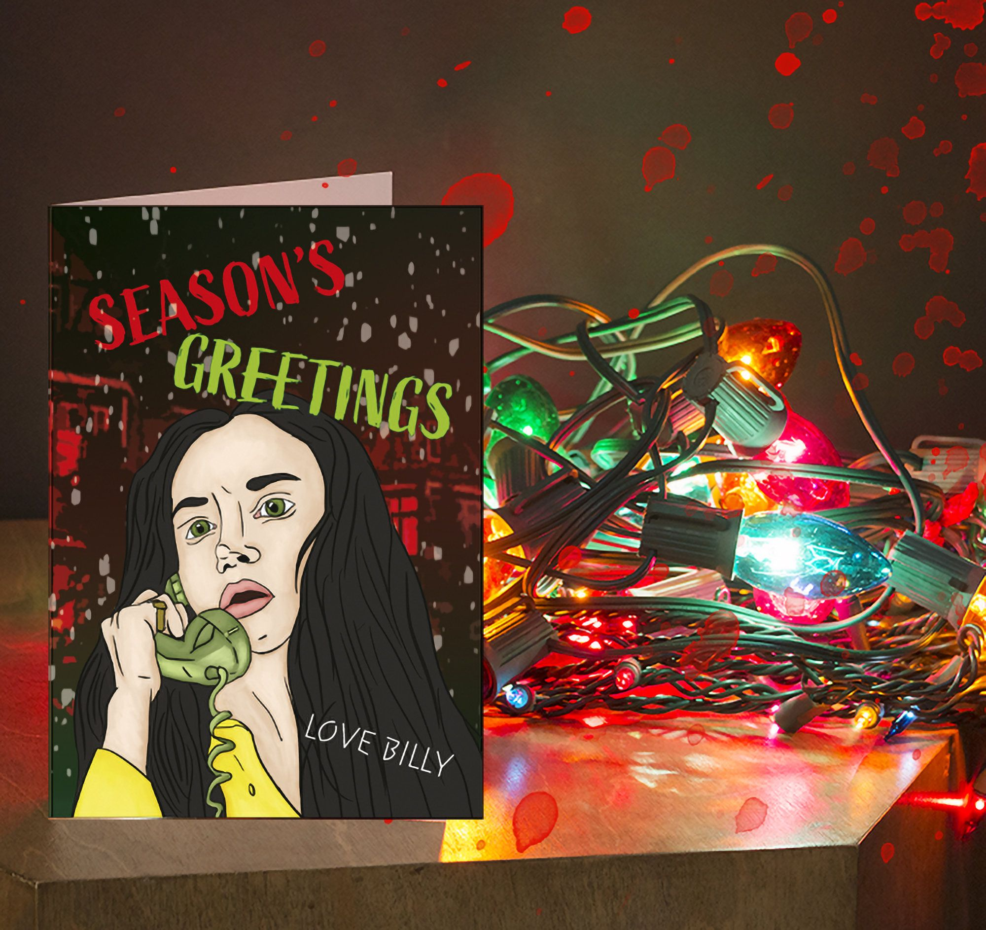 Black Christmas 1974 Horror movie Christmas Card (With