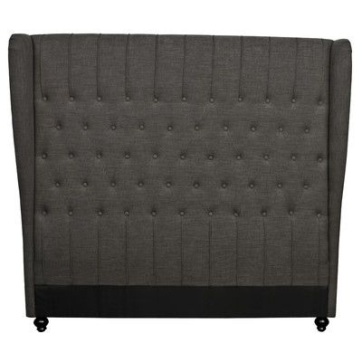 New Pacific Direct Alice King Upholstered Wingback Headboard Upholstery: Umber