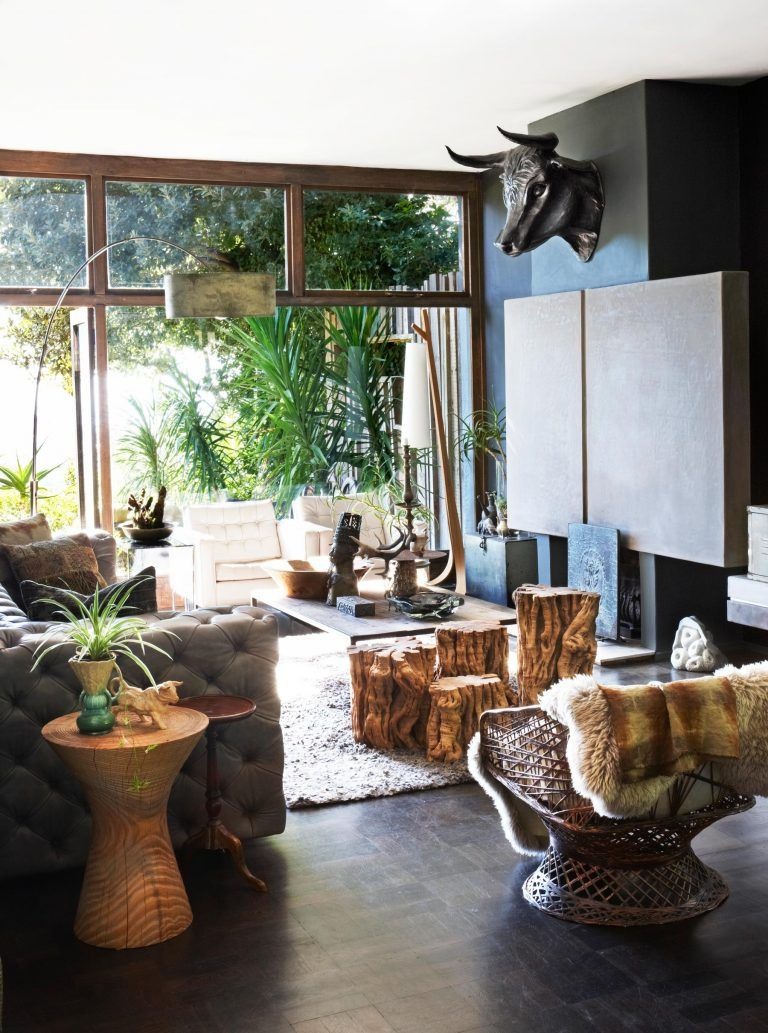 Eclectic Mix Of And Rustic Decor Ideas In This Living Room