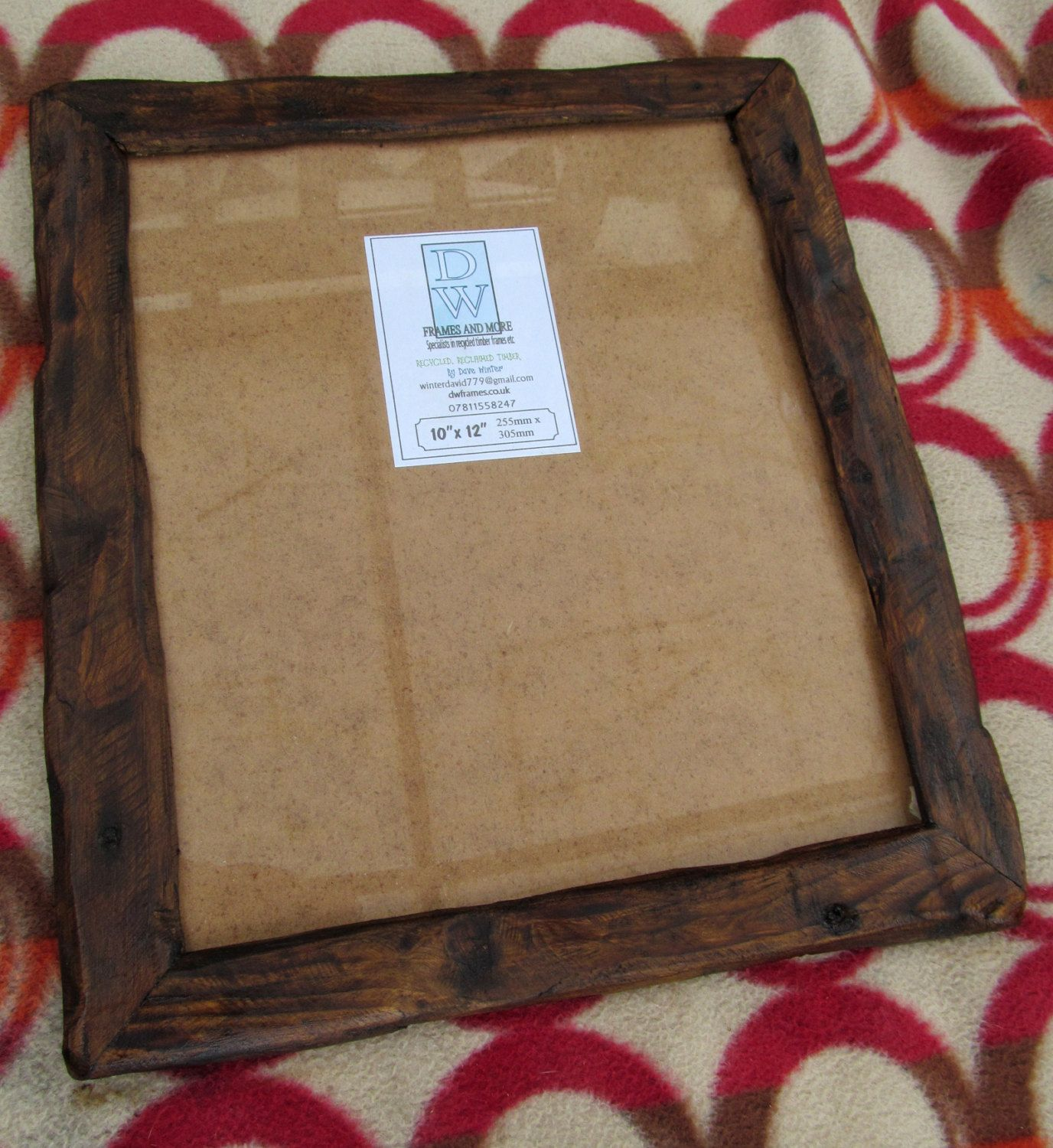 Rusticdriftwood Style Frame In Locally Sourced,Recycled Pine In Dark Oak