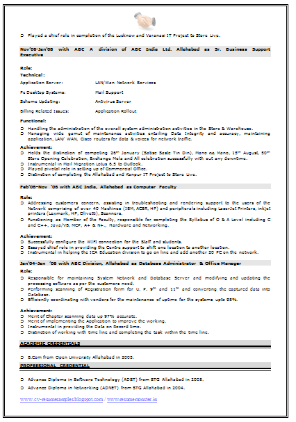 Network Engineer Resume Format 3 Resume Examples Resume Format Network Engineer