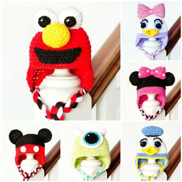 Mickey Mouse Inspired Baby Hat Crochet Pattern | crochet | Pinterest ...