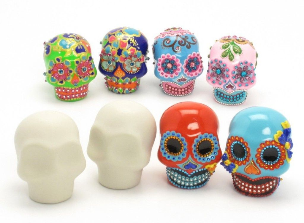 Incredible Day Of The Dead Wedding Cake Toppers Sugar Skull Art Skull Cake Toppers Crafts